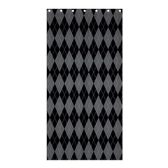 Chevron Wave Line Grey Black Triangle Shower Curtain 36  X 72  (stall)  by Alisyart