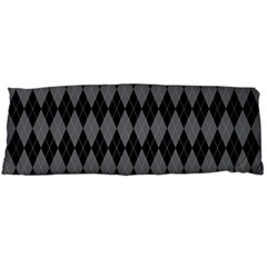 Chevron Wave Line Grey Black Triangle Body Pillow Case Dakimakura (two Sides) by Alisyart