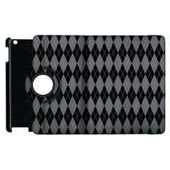 Chevron Wave Line Grey Black Triangle Apple Ipad 3/4 Flip 360 Case