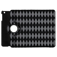 Chevron Wave Line Grey Black Triangle Apple Ipad Mini Flip 360 Case by Alisyart