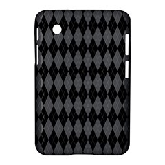 Chevron Wave Line Grey Black Triangle Samsung Galaxy Tab 2 (7 ) P3100 Hardshell Case  by Alisyart