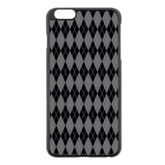 Chevron Wave Line Grey Black Triangle Apple Iphone 6 Plus/6s Plus Black Enamel Case by Alisyart