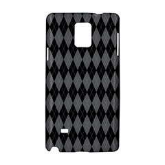 Chevron Wave Line Grey Black Triangle Samsung Galaxy Note 4 Hardshell Case by Alisyart