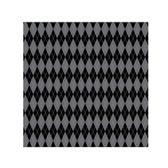 Chevron Wave Line Grey Black Triangle Small Satin Scarf (square)