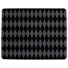 Chevron Wave Line Grey Black Triangle Jigsaw Puzzle Photo Stand (rectangular) by Alisyart