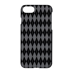 Chevron Wave Line Grey Black Triangle Apple Iphone 7 Hardshell Case by Alisyart