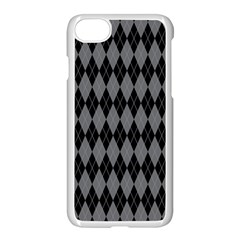 Chevron Wave Line Grey Black Triangle Apple Iphone 7 Seamless Case (white) by Alisyart