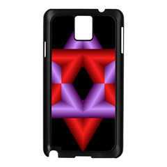 Star Of David Samsung Galaxy Note 3 N9005 Case (black) by Simbadda