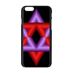 Star Of David Apple Iphone 6/6s Black Enamel Case by Simbadda