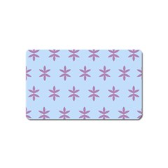 Flower Floral Different Colours Blue Purple Magnet (name Card)