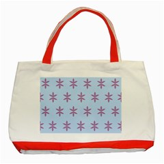 Flower Floral Different Colours Blue Purple Classic Tote Bag (red)