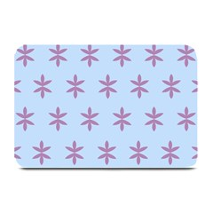 Flower Floral Different Colours Blue Purple Plate Mats by Alisyart