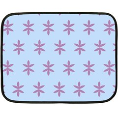 Flower Floral Different Colours Blue Purple Double Sided Fleece Blanket (mini)  by Alisyart