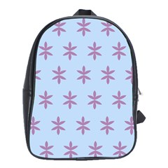 Flower Floral Different Colours Blue Purple School Bags(large)