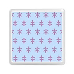 Flower Floral Different Colours Blue Purple Memory Card Reader (square)  by Alisyart