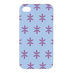 Flower Floral Different Colours Blue Purple Apple Iphone 4/4s Premium Hardshell Case by Alisyart