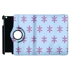Flower Floral Different Colours Blue Purple Apple Ipad 3/4 Flip 360 Case by Alisyart