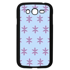 Flower Floral Different Colours Blue Purple Samsung Galaxy Grand Duos I9082 Case (black)