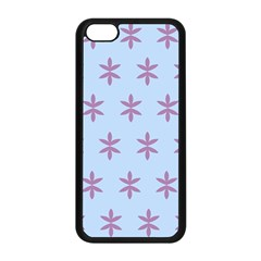 Flower Floral Different Colours Blue Purple Apple Iphone 5c Seamless Case (black)