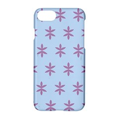 Flower Floral Different Colours Blue Purple Apple Iphone 7 Hardshell Case by Alisyart