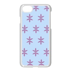 Flower Floral Different Colours Blue Purple Apple Iphone 7 Seamless Case (white) by Alisyart