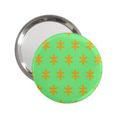 Flower Floral Different Colours Green Orange 2 25  Handbag Mirrors by Alisyart