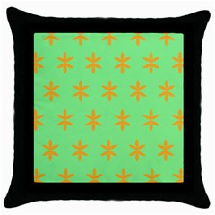 Flower Floral Different Colours Green Orange Throw Pillow Case (black) by Alisyart