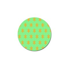Flower Floral Different Colours Green Orange Golf Ball Marker (4 Pack) by Alisyart