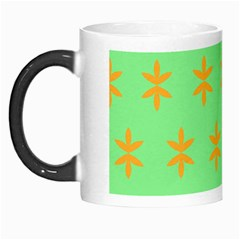 Flower Floral Different Colours Green Orange Morph Mugs by Alisyart