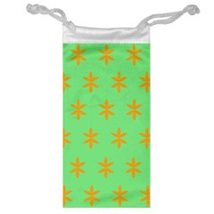 Flower Floral Different Colours Green Orange Jewelry Bag