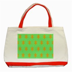Flower Floral Different Colours Green Orange Classic Tote Bag (red) by Alisyart