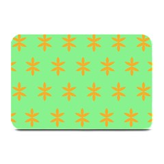 Flower Floral Different Colours Green Orange Plate Mats by Alisyart