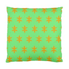 Flower Floral Different Colours Green Orange Standard Cushion Case (one Side) by Alisyart