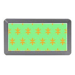 Flower Floral Different Colours Green Orange Memory Card Reader (mini) by Alisyart