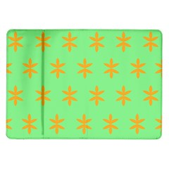 Flower Floral Different Colours Green Orange Samsung Galaxy Tab 10 1  P7500 Flip Case