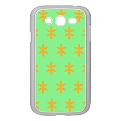Flower Floral Different Colours Green Orange Samsung Galaxy Grand Duos I9082 Case (white) by Alisyart