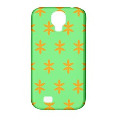 Flower Floral Different Colours Green Orange Samsung Galaxy S4 Classic Hardshell Case (pc+silicone)