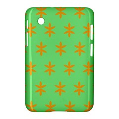 Flower Floral Different Colours Green Orange Samsung Galaxy Tab 2 (7 ) P3100 Hardshell Case