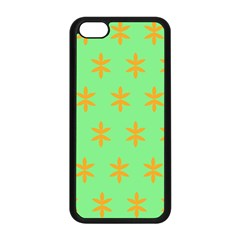 Flower Floral Different Colours Green Orange Apple Iphone 5c Seamless Case (black)