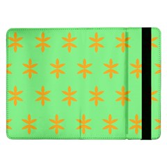 Flower Floral Different Colours Green Orange Samsung Galaxy Tab Pro 12 2  Flip Case by Alisyart