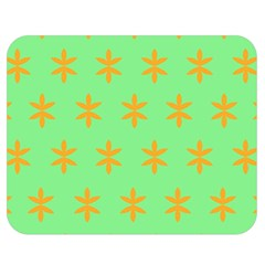 Flower Floral Different Colours Green Orange Double Sided Flano Blanket (medium)