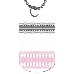 Crown King Quinn Chevron Wave Pink Black Dog Tag (two Sides) by Alisyart