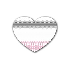 Crown King Quinn Chevron Wave Pink Black Heart Coaster (4 Pack)  by Alisyart