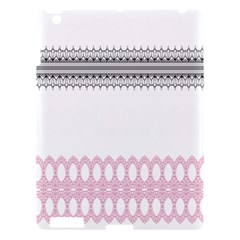 Crown King Quinn Chevron Wave Pink Black Apple Ipad 3/4 Hardshell Case by Alisyart