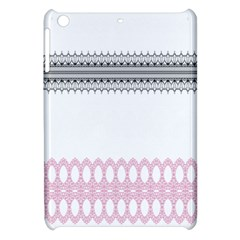 Crown King Quinn Chevron Wave Pink Black Apple Ipad Mini Hardshell Case by Alisyart