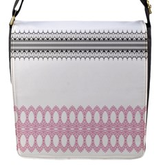 Crown King Quinn Chevron Wave Pink Black Flap Messenger Bag (s) by Alisyart