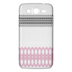 Crown King Quinn Chevron Wave Pink Black Samsung Galaxy Mega 5 8 I9152 Hardshell Case