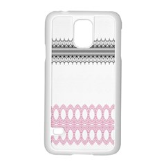 Crown King Quinn Chevron Wave Pink Black Samsung Galaxy S5 Case (white)