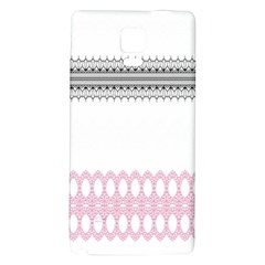 Crown King Quinn Chevron Wave Pink Black Galaxy Note 4 Back Case by Alisyart