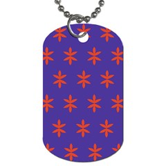 Flower Floral Different Colours Purple Orange Dog Tag (one Side) by Alisyart